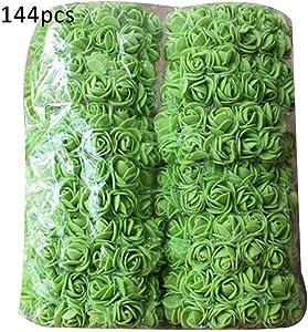 Sar546_Flower 144Pcs Solid Color Artificial Foam Rosefor Home Decor, Wedding, Parties, Offices, Restaurants