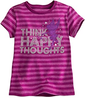Tinker Bell Striped Tee for Girls Purple