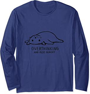 Overthinking and Also Hungry Funny Cat Long Sleeved Shirt