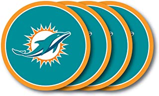 NFL Miami Dolphins Vinyl Coaster Set (Pack of 4)