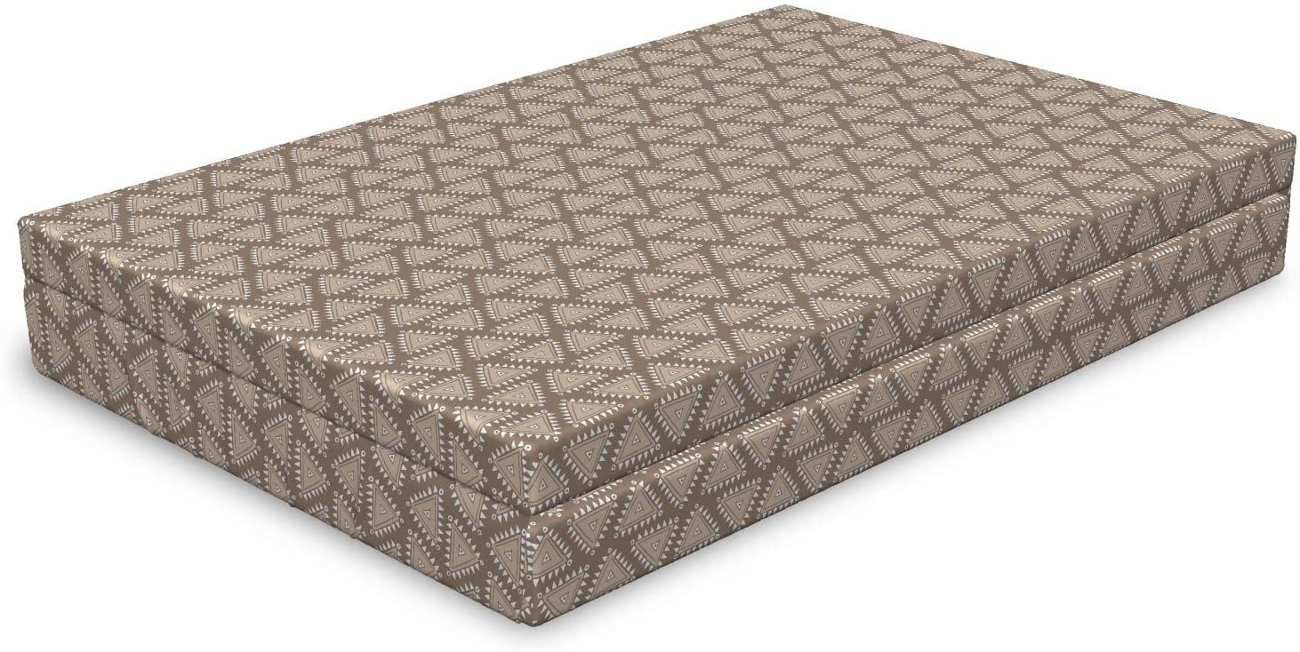 Al sold out. Lunarable Vintage Aztec Dog In a popularity Bed Triangles Earthy Toned Neutral