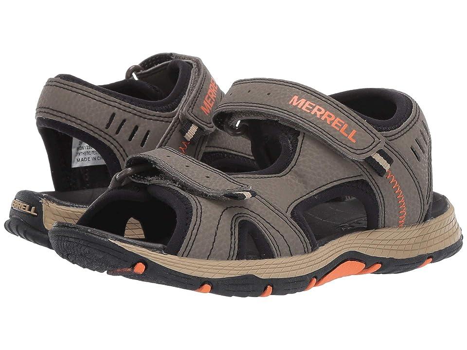 Merrell Kids Panther Sandal (Toddler/Little Kid/Big Kid) (Gunsmoke/Orange) Boys Shoes