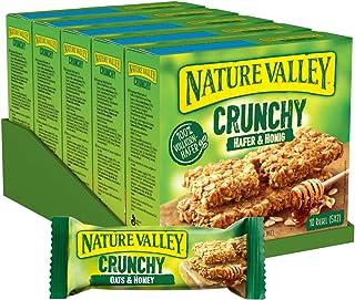 Nature Valley Crunchy Hafer und Honig, Müsliriegel, 5er Pack 5 x 210g Multipack mit je 10 Riegeln