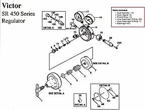 Victor SR450D Oxygen Regulator Rebuild/Repair Parts Kit w/ DIAPHRAGM