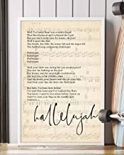 Trendora Decor Hallelujah Song Lyrics Portrait Poster Print (12