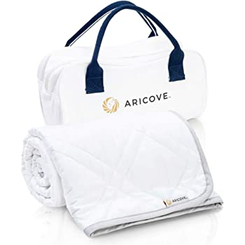 """Aricove Weighted Blanket for Kids, 5 lbs, 36""""x48"""", Certified Premium Soft Bamboo in White Color, Full Size for Small Child, Caring Gifts"""