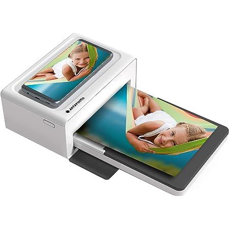 AGFA PHOTO Realipix Moments – Imprimante Photo Bluetooth (Photo Format Carte Postale 10x15 cm – 4x6'', Sublimation Thermique 4Pass) Blanc & Noir