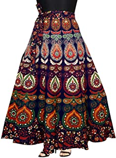 Rangun Presenting Woman's Cotton Printed Multi Color Casual Skirt (A-line :: Free Size)