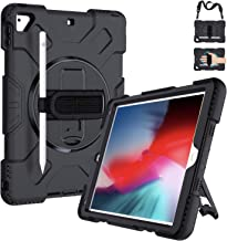 iPad 5th/6th Generation Cases, iPad 9.7 Case Military Grade [15 ft Drop Tested] Shockproof Protective Cover with 360° Rota...