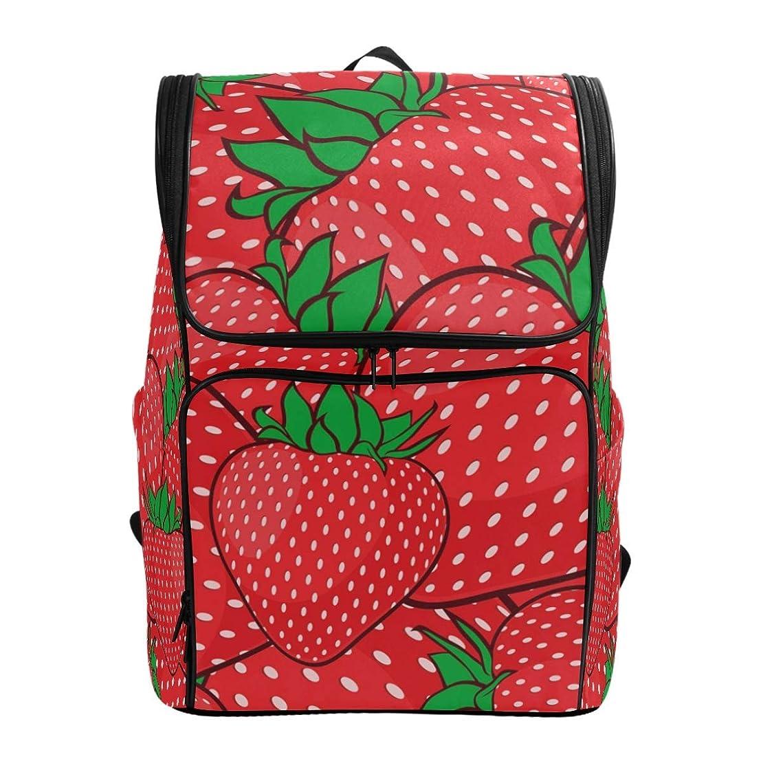 スロベニア拡声器思春期VAMIX リュックサック バッグ 男女兼用 メンズ レディース 通勤 通学 大容量 ファッション おしゃれ 開学 多機能 プレゼント ギフト イチゴ (Cute Strawberry)