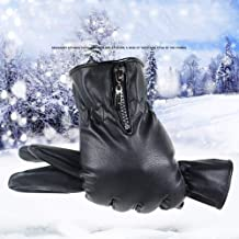 Mens Luxurious Leather Winter Super Driving Warm Gloves Cashmere EWF366Y USHOT