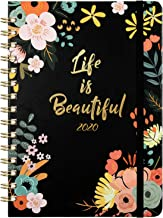 2020 Planner – Weekly & Monthly Planner with Tabs, Floral Cover with Twin-Wire..