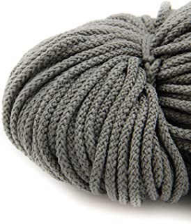 NTS Nähtechnik 100m Kordel, 100% Polyester, Farbauswahl, Breite: 3 mm grau
