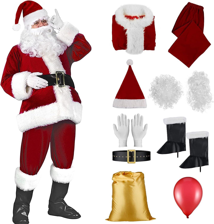 Christmas 5 popular Santa Claus Costume Set Men's Suit Ultra Max 57% OFF Deluxe