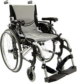 """Karman 29 pounds S-305 Ergonomic Wheelchair 18"""" Pearl Silver"""