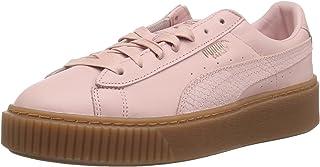 PUMA 女士 Basket Platform Euphoria Gum 运动鞋