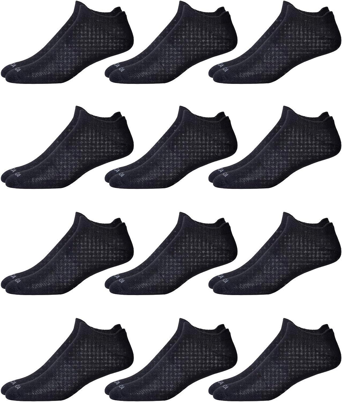Nautica Men's Soft Microfiber Low Cut Performance Socks (12 Pack)