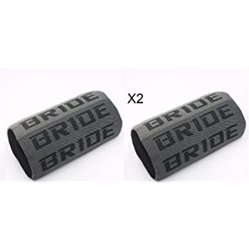 X1 JDM Bride Black Gradation Neck Headrest pillow Fabric Racing seat material