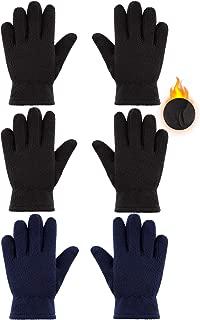 3 Pairs Kids Fleece Gloves Full Fingers Gloves Winter...