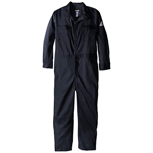 8bb28ae4a7c8 Bulwark Flame Resistant 9oz Twill Cotton Premium Concealed Snap Coverall