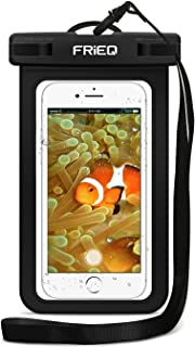 FRiEQ Waterproof Case 2 Pack for iPhone 11 / iPhone 11 Pro Max/Xs Max/XR/XS/X / 8/7 / 6S Plus, Samsung Galaxy S10 S10e S9 S8 +/Note 9 8, Pixel 3 2 XL HTC LG Sony Moto up to 6.5