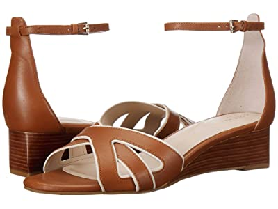 Cole Haan 40 mm Hana Grand Wedge (CH British Tan/Ivory Leather/Dark Natural Stack) Women