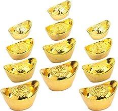 ABOOFAN 20Pcs Bolo Artesanato Molde de Lingote de Ouro Yuan Bao Feng Shui Riqueza Prosperidade Enfeites de Decoração para ...
