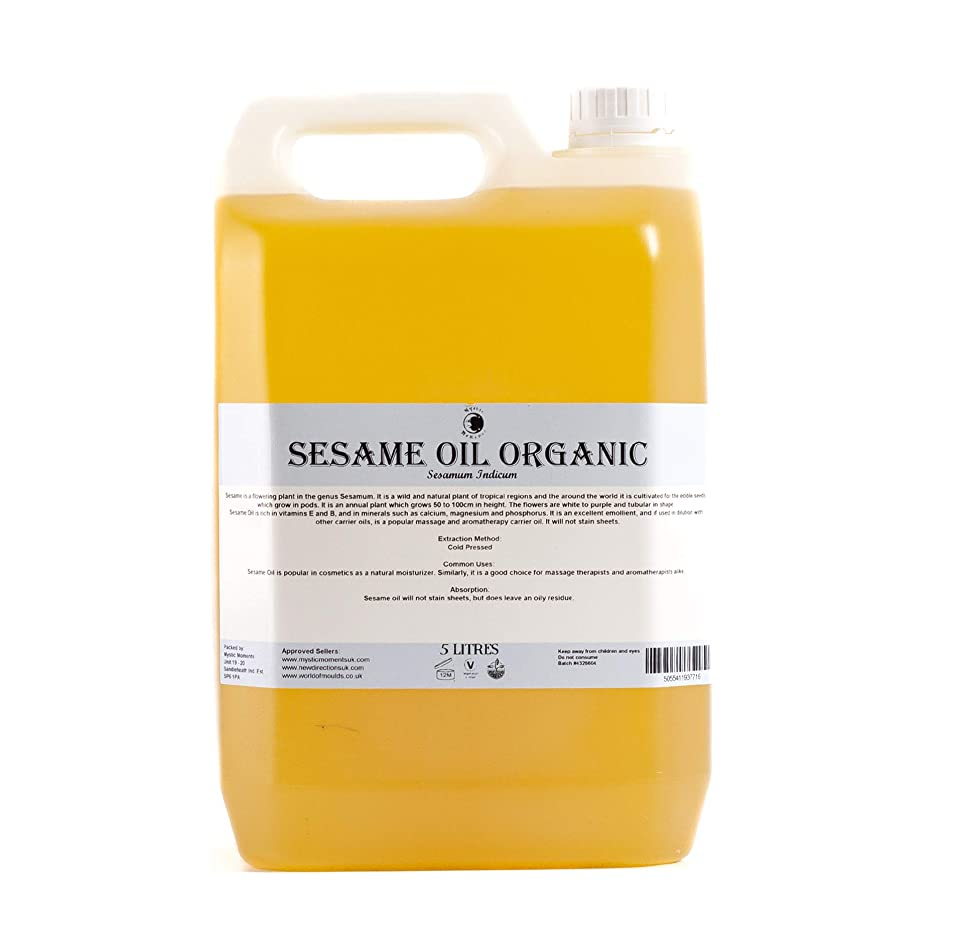 嵐大佐時刻表Mystic Moments | Sesame Organic Carrier Oil - 5 Litres - 100% Pure