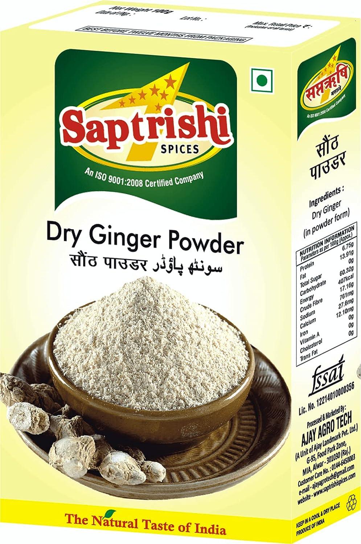 Saptrishi Ginger Powder Organic g New York 70% OFF Outlet Mall Ground Adrak 100