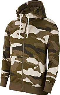 Nike Men's Sportswear Camo Club Fleece Full Zip-Up Hoodie BV3622