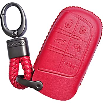 1Pack Leather Key Chain Suit for Dodge Challenger Dakota Charger Ram 1501 Durango Caravan KeyChain Keyring Family Present