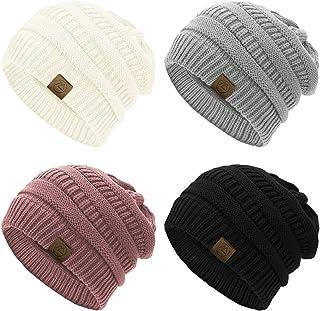 کلاه های بافتنی دوروی Beanie برای زنان کلاه های دنج زمستانی دنج کلاه ضخیم کلاه های زنانه گرم Beanie برای زنان