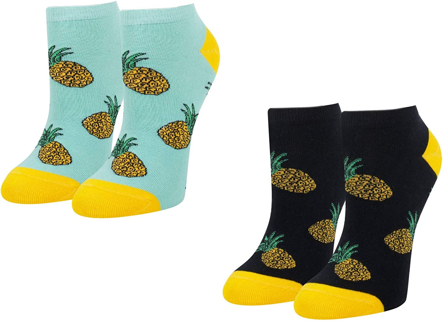 Zmart Shipping included Pineapple Direct store Teeth Pickle Avocado Ankle Socks Cut Low Pack 2