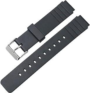 【TON CHARME】トンチャーメー 腕時計用ベルト TPU 交換 汎用 防水 耐用 時計バンド ブラック 16mm (16mm, ブラック)