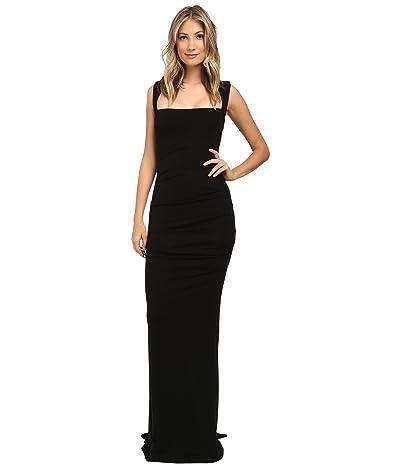 Nicole Miller Felicity Open Back Jersey Gown (Black) Women