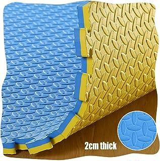 YANGJUN Interlocking Foam Mats Kids Baby Play Mat Double Sided Non-slip Waterproof Protection Leaf Pattern Thicken (Color...