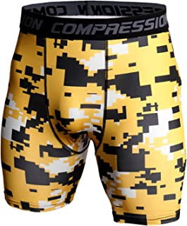 QiFei Baselayer Compressieshorts voor heren, voor fitness, sport, korte broek, sneldrogend, legging, loopbroek, rekbaar, j...