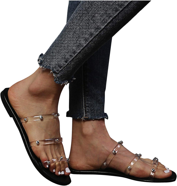 Padaleks Women's Flat Sandals Clear Ranking TOP11 Slide Sli Max 80% OFF Flip Strappy Flops