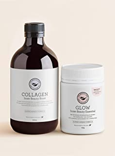 The Beauty Chef | The Perfect Pair | Collagen Inner Beauty Boost (500ml) + Glow Inner Beauty Essential (150g) | Brighten, ...