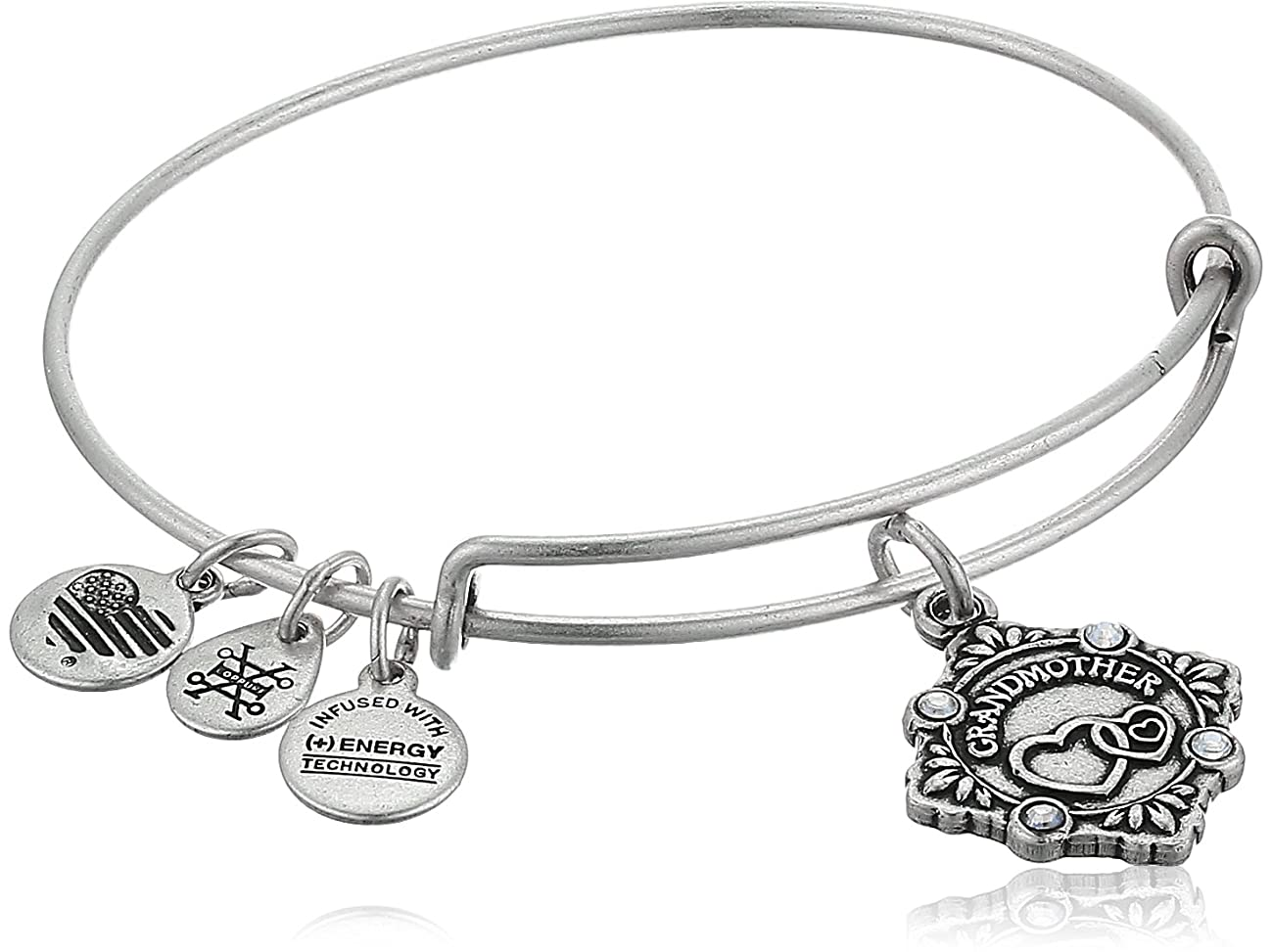 Alex and Ani Womens Because I Love You Grandmother III Bangle