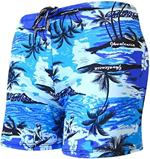 Yililay Men's swimming trunks loose beach print shorts spa pants boxer swimming shorts XL