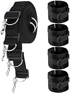 featured product ErosMaster On The Bed Stress Restrain System with Cuffs and Wrist Shackles Straps for Male Female Couples, Super Durable and Comfortable