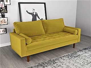 Container Furniture Direct S5459-S S5459 Mid Century Modern Velvet Upholstered Tufted Living Room Sofa, 69.68