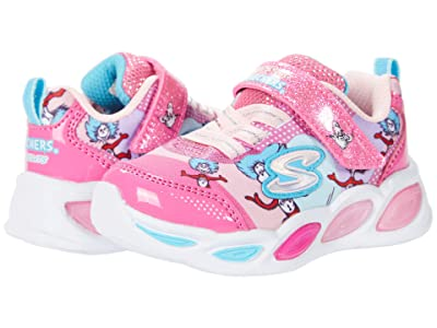 SKECHERS KIDS Dr. Suess Shimmer Beams Funtime with Things Lighted 314988N (Toddler) (Pink/Multi) Girl