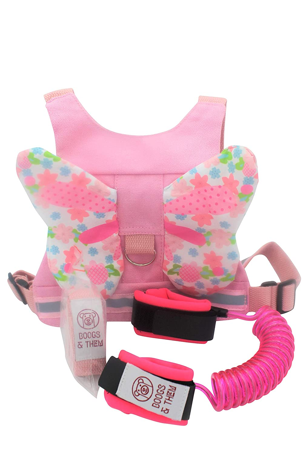 Premium and Adjustable Child Safety Harness | Safety Harness and Wrist Leash to Keep Child Safe | Light Reflective Strips ENSURES Visibility at Night (Pink)