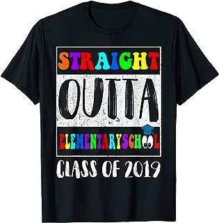 Straight Outta Elementary School TShirt Graduation Gifts
