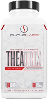 Purus Labs Theatrim | Advanced Thermolipolytic and Focal Catalyst, Teacrine, SAMe, B12, Infinergy, White Willow Bark | 60 ...