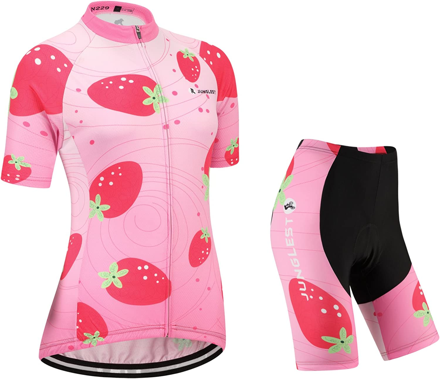 Cycling jersey Set, Maillot de Cyclisme Women Femme Short sleeve Manches Courtes(S5XL,option bib Cuissard,3D pad Coussin) N229