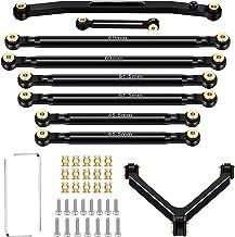 Aluminum Suspension Links and Aluminum Steering Rod Tie Links Set Metal Link Rod Tie Accessories Aluminum Linkage Suspensi...