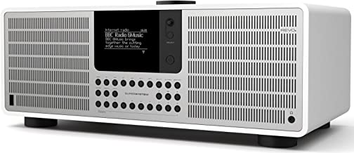 REVO SuperSystem Multi Format Premium Audio System - White/Silver